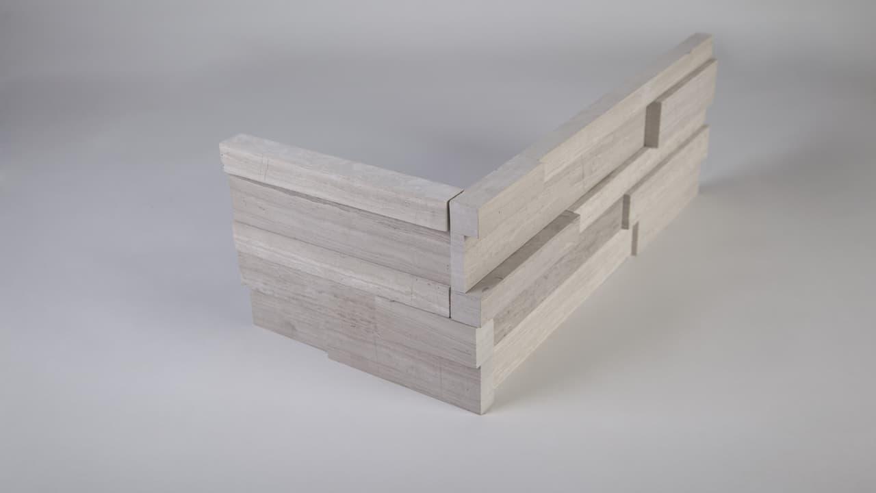 White Birch Honed Corner Image